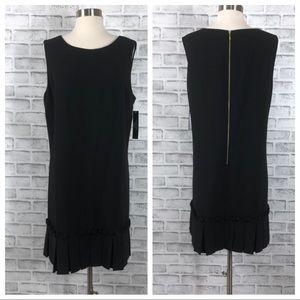 Tahari Black Sleeveless Dropwaist Dress